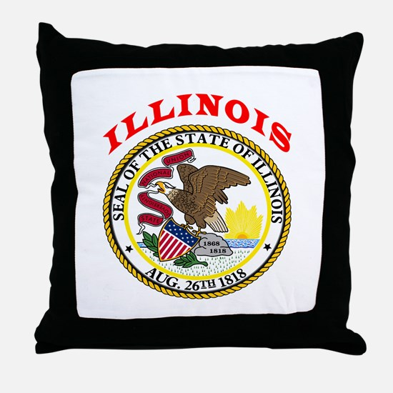 Illinois State Seal Throw Pillow