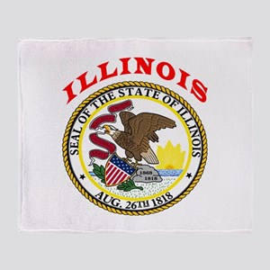 Illinois State Seal Throw Blanket