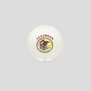 Illinois State Seal Mini Button
