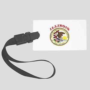 Illinois State Seal Large Luggage Tag