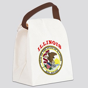 Illinois State Seal Canvas Lunch Bag