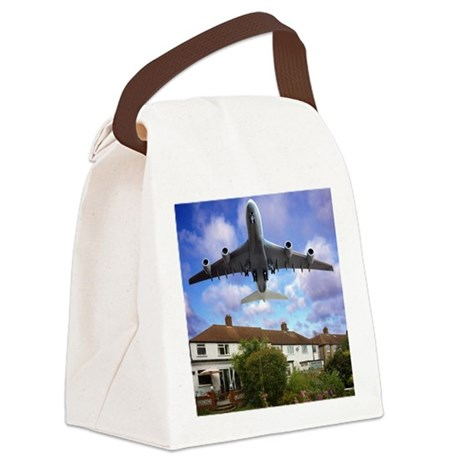 Low flying plane - Canvas Lunch Bag