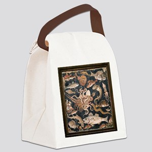 Roman seafood mosaic - Canvas Lunch Bag