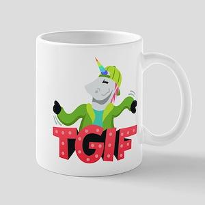 Emoji Unicorn TGIF 11 oz Ceramic Mug