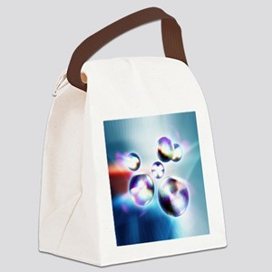Quarks, 3D-computer artwork - Canvas Lunch Bag
