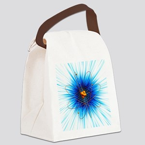 Atomic structure, artwork - Canvas Lunch Bag