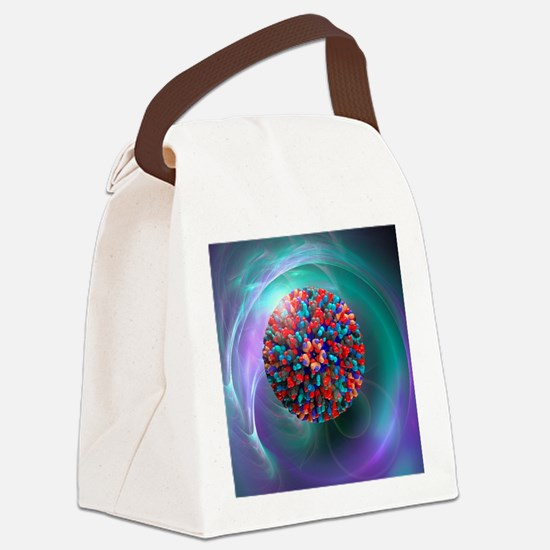 Bluetongue virus, artwork - Canvas Lunch Bag