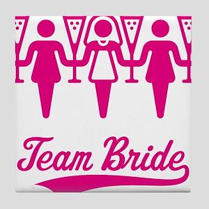 Team Bride (Bachelorette Party), magenta Tile Coas