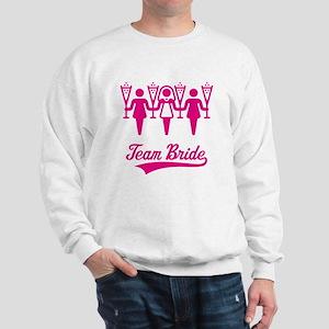 Team Bride (Bachelorette Party), magenta Sweatshir