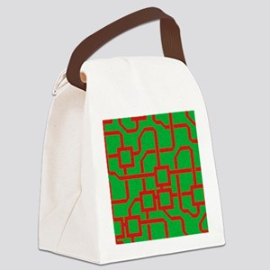 Microchip, artwork - Canvas Lunch Bag