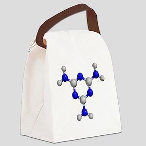 Melamine molecule - Canvas Lunch Bag