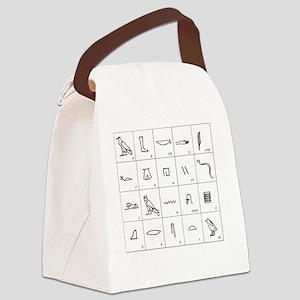 Phonetic Egyptian hieroglyphs - Canvas Lunch Bag