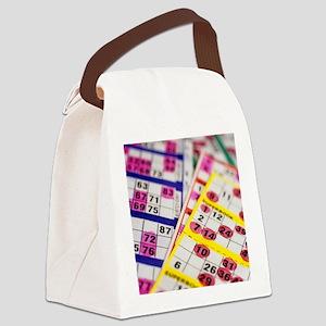 Bingo cards - Canvas Lunch Bag