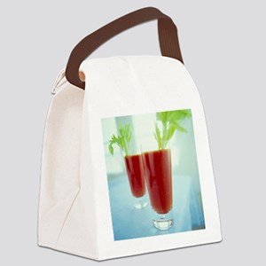 Bloody Mary cocktails - Canvas Lunch Bag