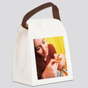 Contraceptive pills - Canvas Lunch Bag