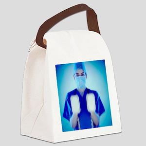 Defibrillator - Canvas Lunch Bag