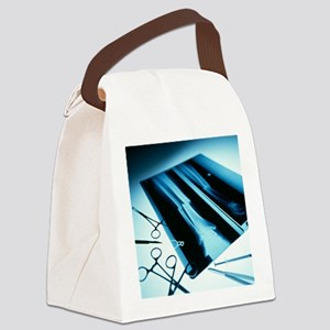 Leg fracture, X-ray - Canvas Lunch Bag