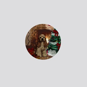 Cocker Spaniel Christmas Watercolor Mini Button