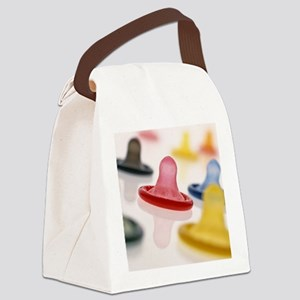 Rolled-up condoms - Canvas Lunch Bag