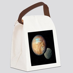 Pluto and Charon - Canvas Lunch Bag