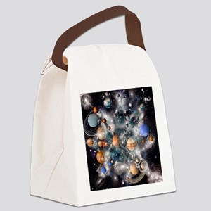 Solar system planets - Canvas Lunch Bag