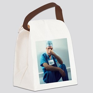 Tired surgeon - Canvas Lunch Bag