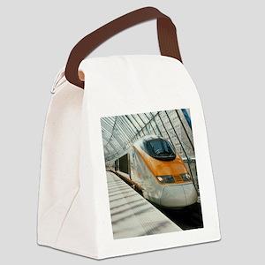 Eurostar Channel Tunnel train - Canvas Lunch Bag
