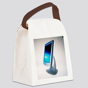 Flat-panel computer screen - Canvas Lunch Bag