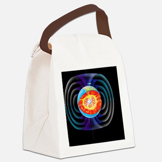 Earth's magnetic field - Canvas Lunch Bag
