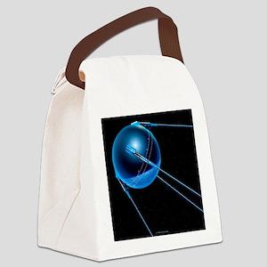 Sputnik 1 satellite - Canvas Lunch Bag