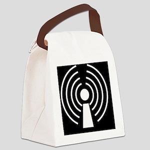 Wireless internet symbol - Canvas Lunch Bag