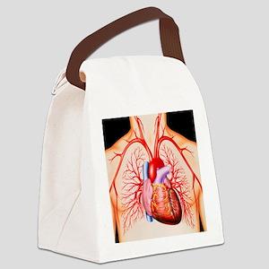 Human heart, artwork - Canvas Lunch Bag