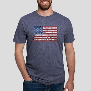 Political Protest American Mens Tri-blend T-Shirt