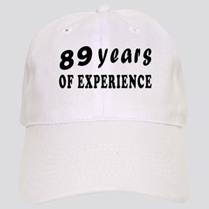 89 years birthday designs Cap
