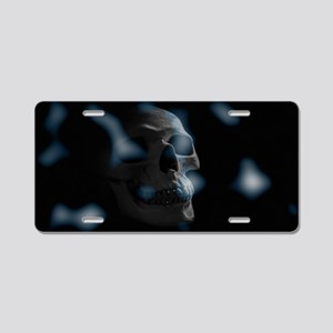 blue skull Aluminum License Plate