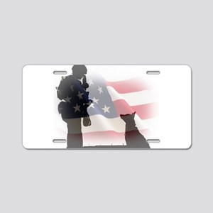 Soldier and shepard Aluminum License Plate