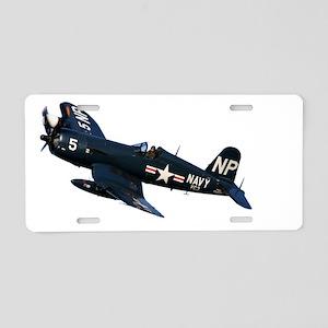 Corsair fighter Aluminum License Plate