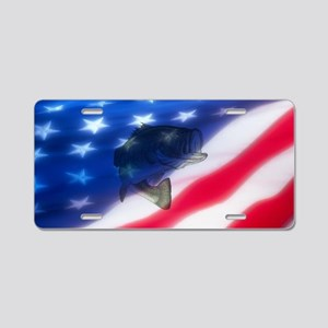 Bass America Aluminum License Plate