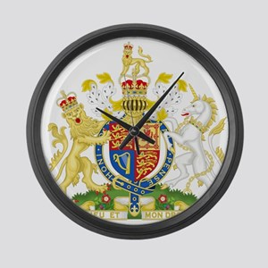 Royal COA of UK Large Wall Clock