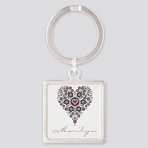 Love Marilyn Square Keychain
