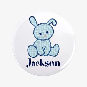 "Custom Easter Blue Bunny 3.5"" Button"