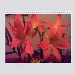 Hearts, Flowers and Bright Orange Lilies Calendar