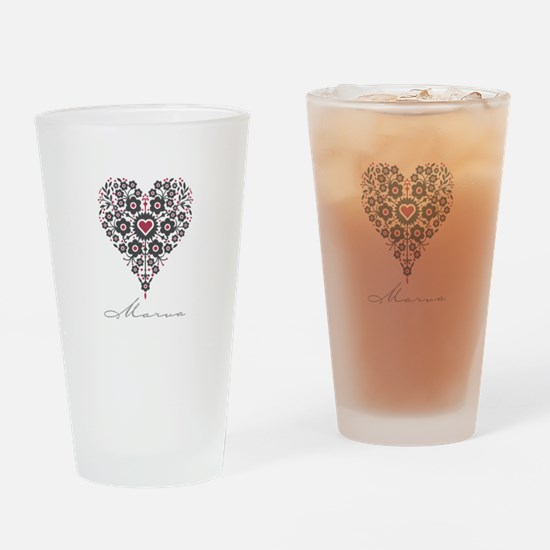 Love Marva Drinking Glass