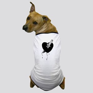 Black Bloody Heart Dog T-Shirt