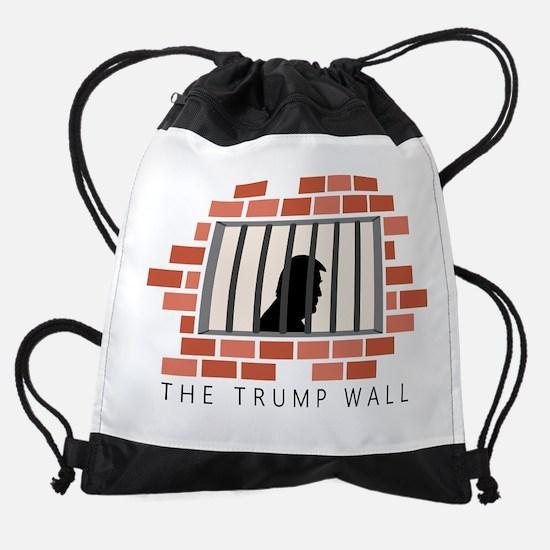 The Trump Wall Drawstring Bag