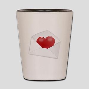 Heart Envelope Shot Glass