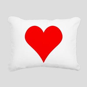 Simple Red Heart Rectangular Canvas Pillow