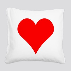 Simple Red Heart Square Canvas Pillow