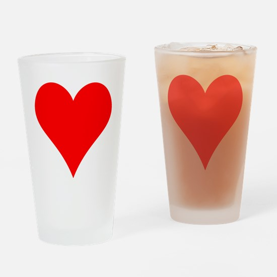 Simple Red Heart Drinking Glass