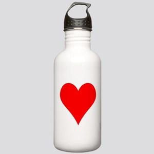 Simple Red Heart Water Bottle